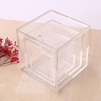 Acrylic Rectangular Packing Box With Automatically Pulls The Lid