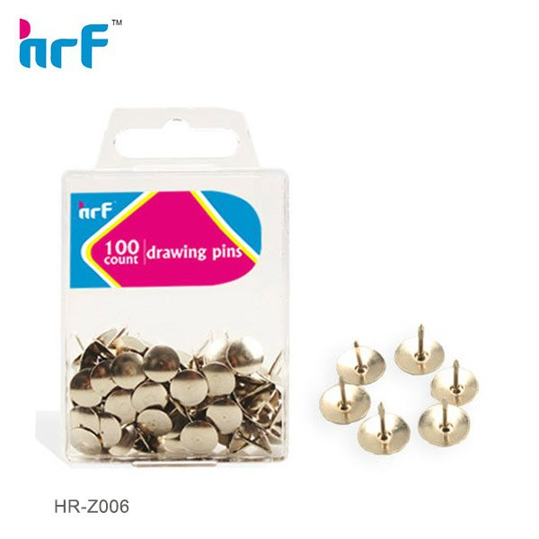 100 pcs Silvery Round Head Thumb Tacks in PS box