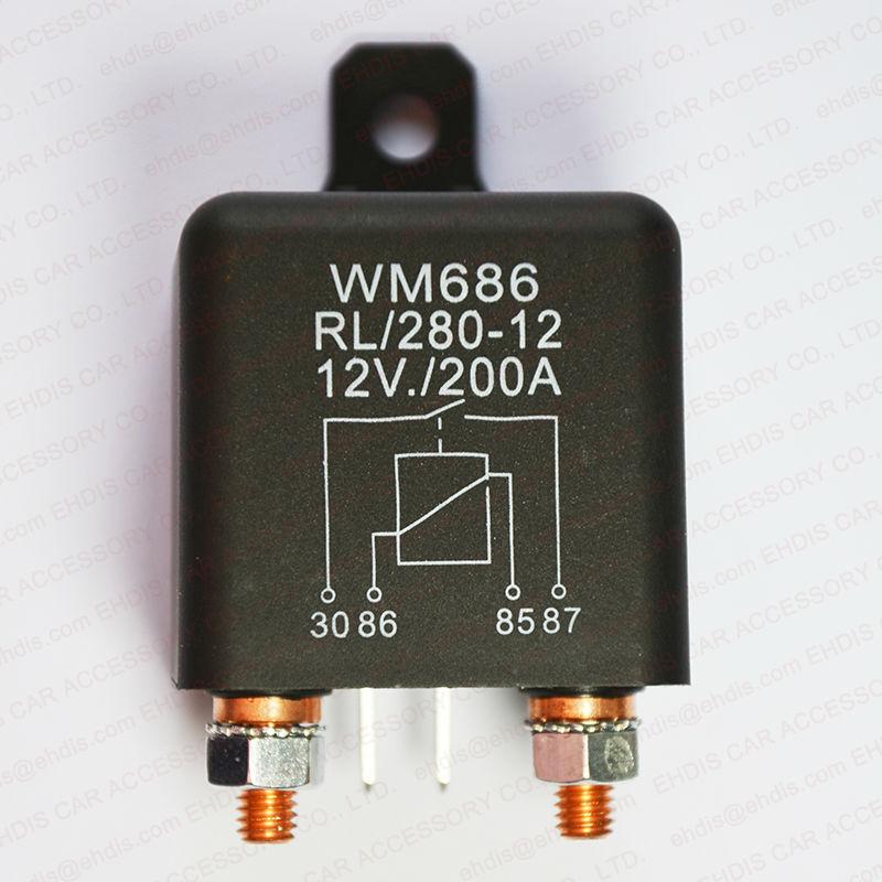 Heavy Duty 12v Dc Relay 200a Automotive Switch 4 Pin Relay