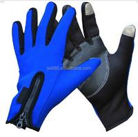 zipper adjustive ski gloves