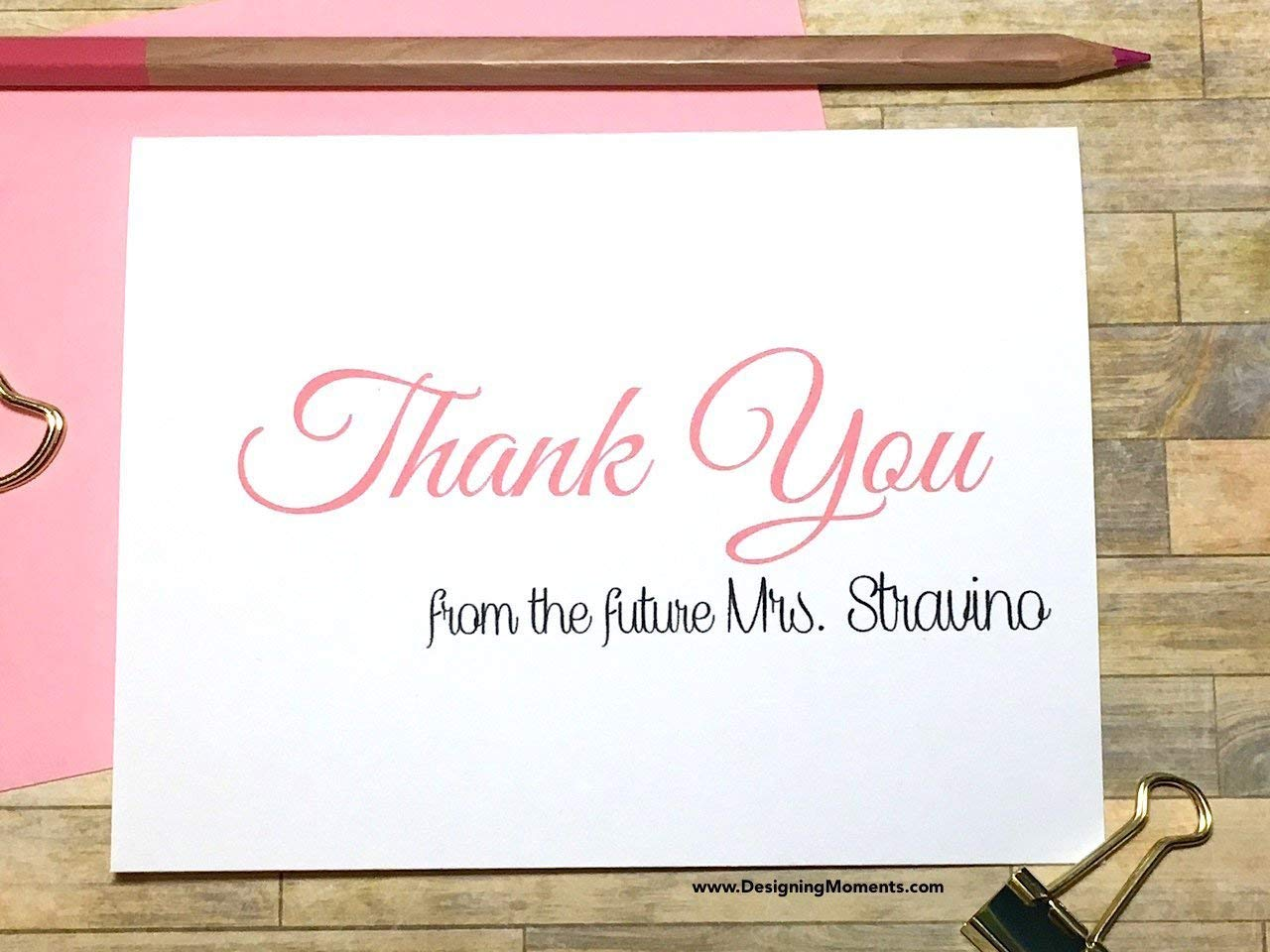 get quotations personalized bridal thank you cards pink thank you from the future mrs bridal shower