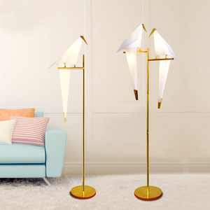 Fancy indoor lighting standing floor lamp with bird shade ETL52014