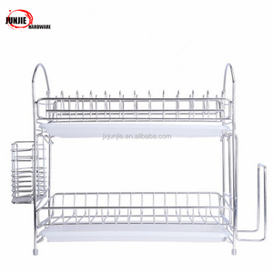 Metal Kitchen Double Layers Plate Hanger