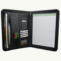 ModernQiu Custom Durable A4 Leather Portfolio File Folder