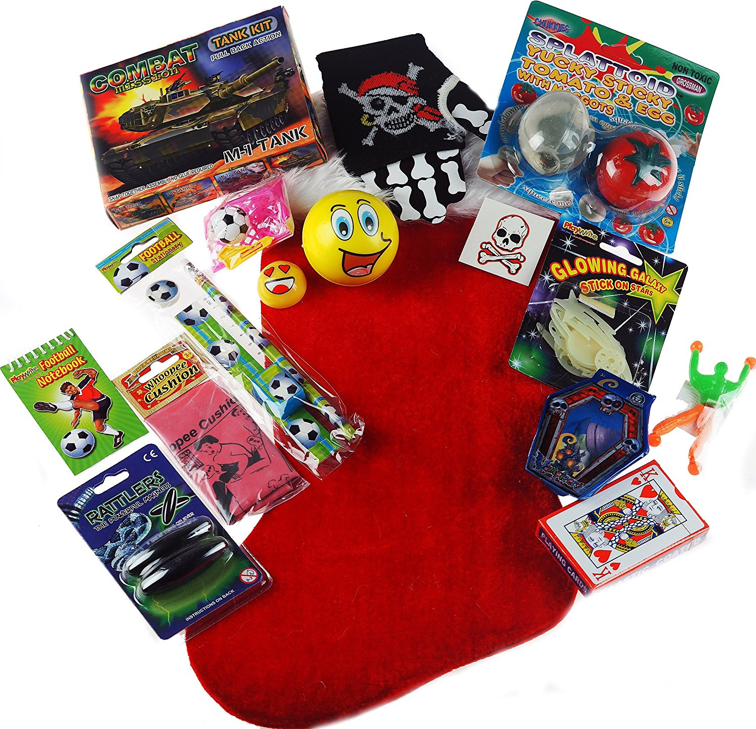 get quotations older boys 2016 pre filled christmas stocking stuffed with 15 toys and novelties - Pre Filled Christmas Stockings
