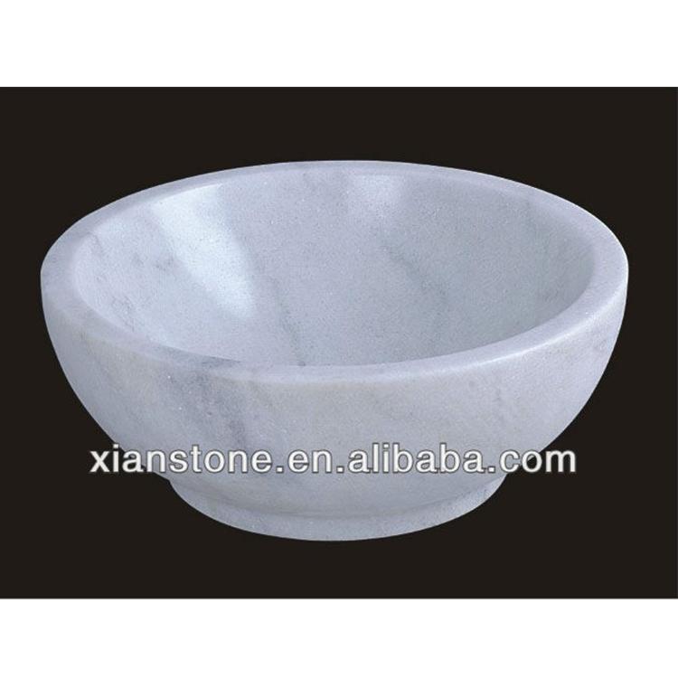 White Stone Marble Fruit Bowl