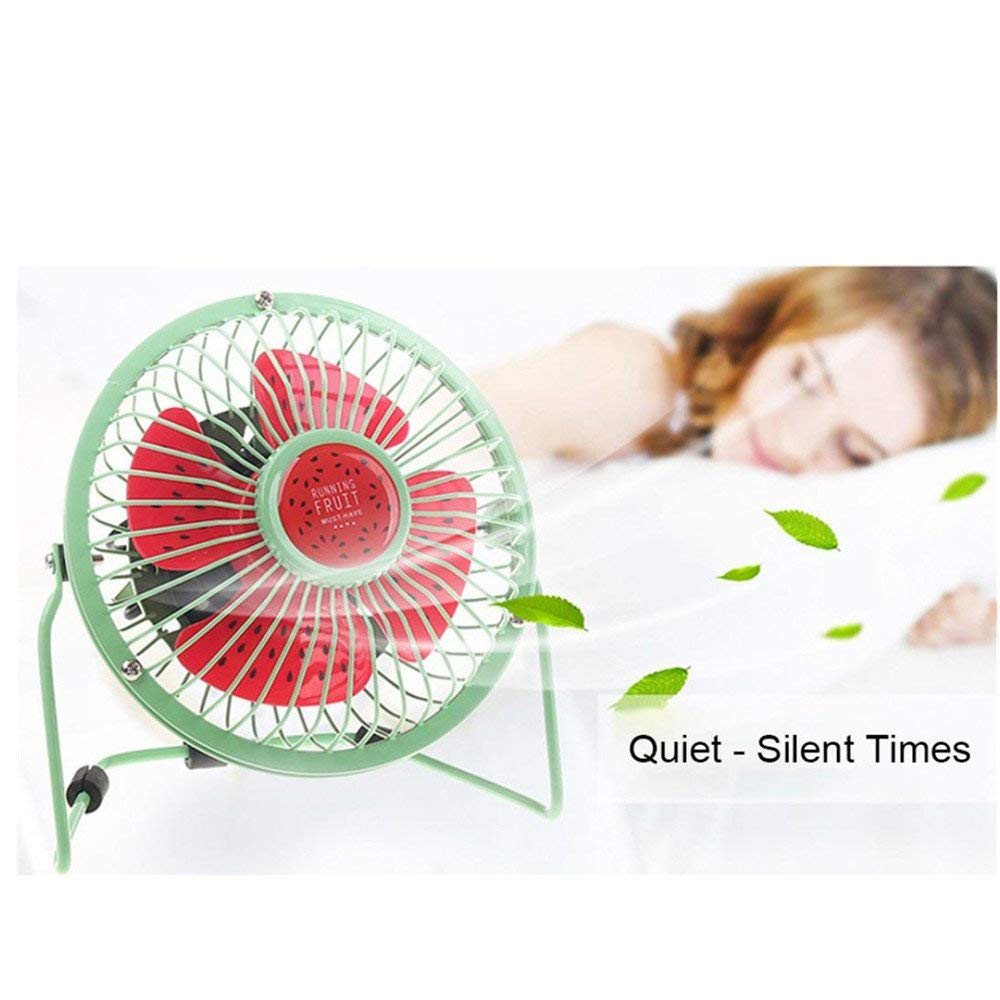 Mini USB Fan,Table Desk Fan,Cute Low Power Desktop Cooling Fan Computer Laptop Quiet Consumption for Office Room Home (C, Size: 14.5cmx 15.5cm)