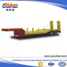2 axle shipping wood lowbed logging trailer for sale