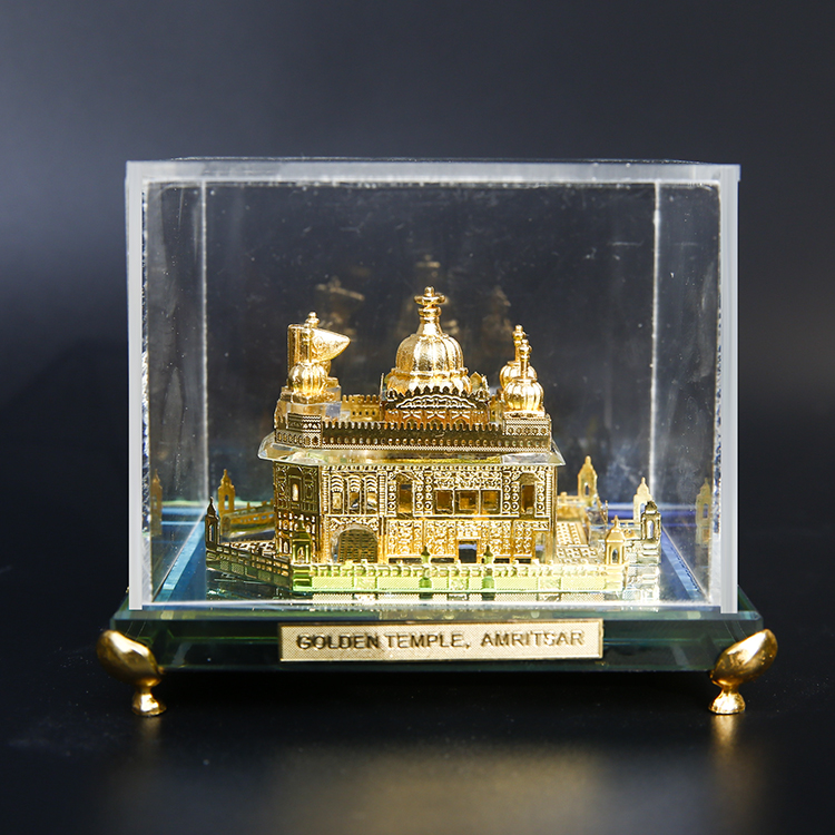 Crystal 24K Gold Plated Golden Temple crystal building model Sikh crystal gifts Amritsar souvenir gift