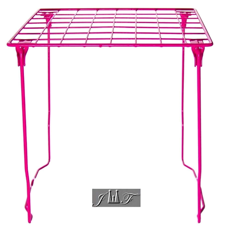 "12/"" Tall Folding Metal Wire School Locker Shelf Stackable Storage Book Organizer"