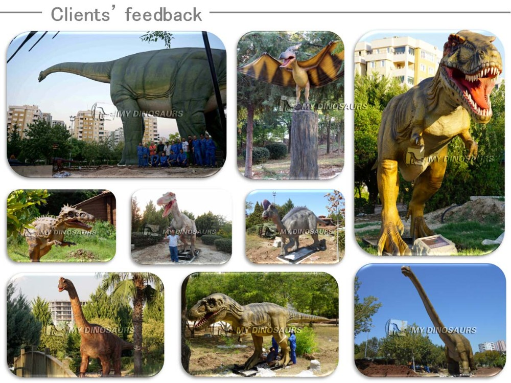 My-Dino amusement park equipment life size statues for sale