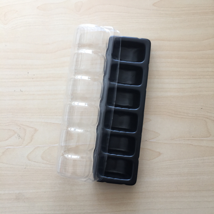 PET Food Grade Plastic Macaron Trays, Pastry Packaging