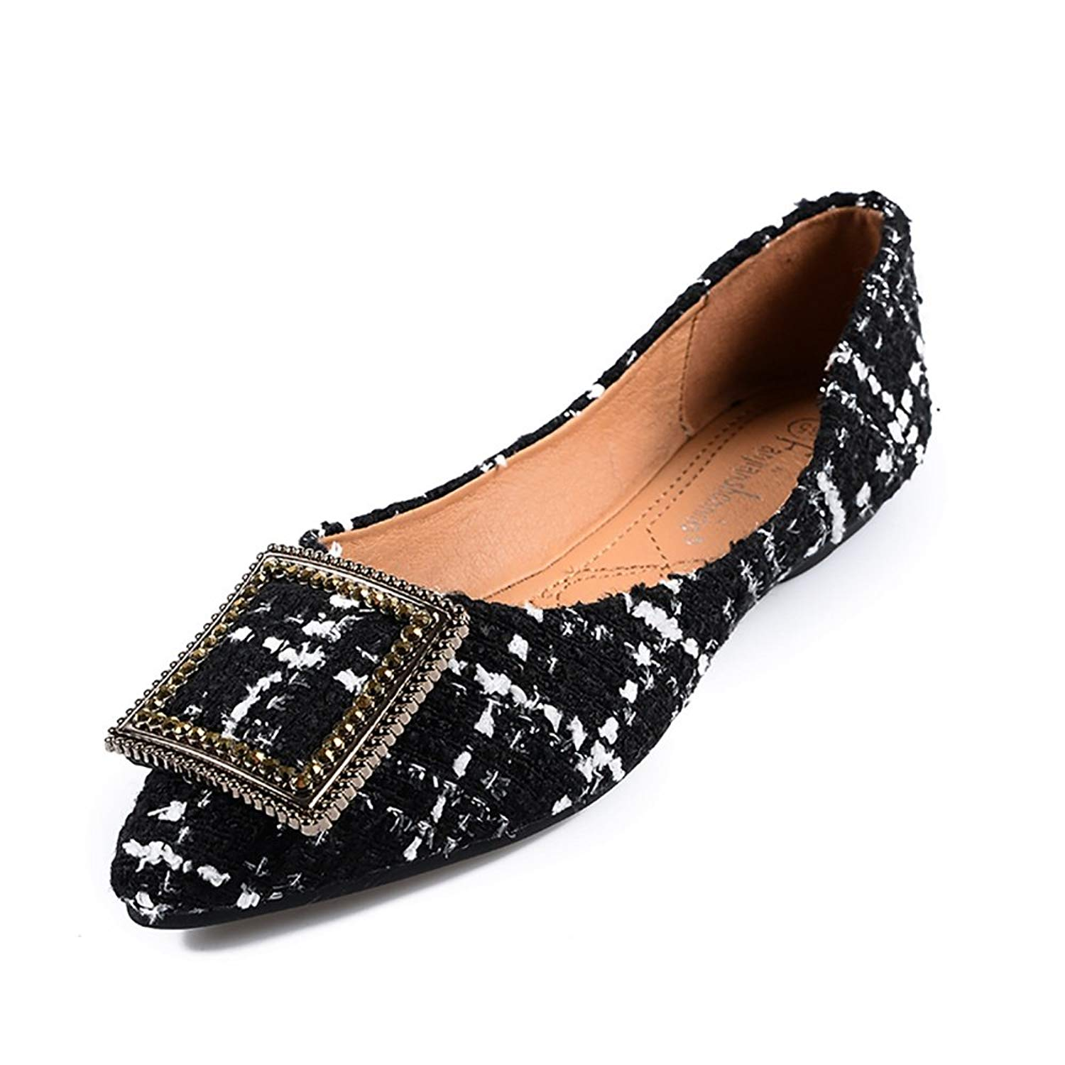 Naomiky New Casual Flat Shoes Woman Brand Platform Slip-On with Round Toe Spring Summer 35-40 Size