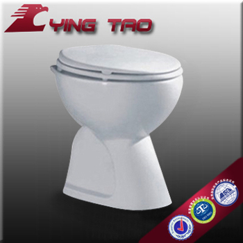 Western Bathroom Design Toilet Commode Seat Flush Water Closet Floor Mounted No Tank S