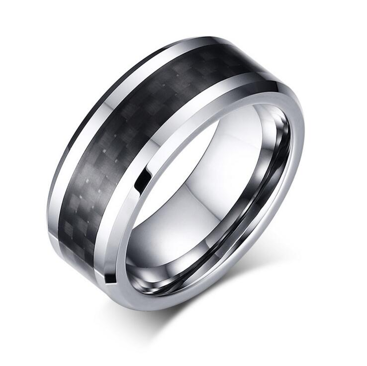 2017 Jewelry Men Black Tungsten Carbide Wedding Rings