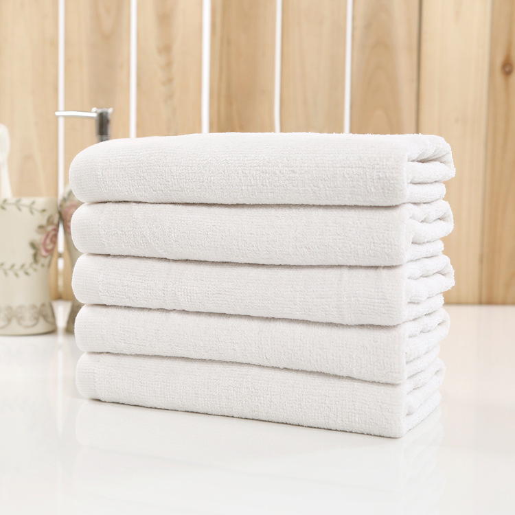 Hotel Pure White Color Bath Towel/face Towels Wholesale