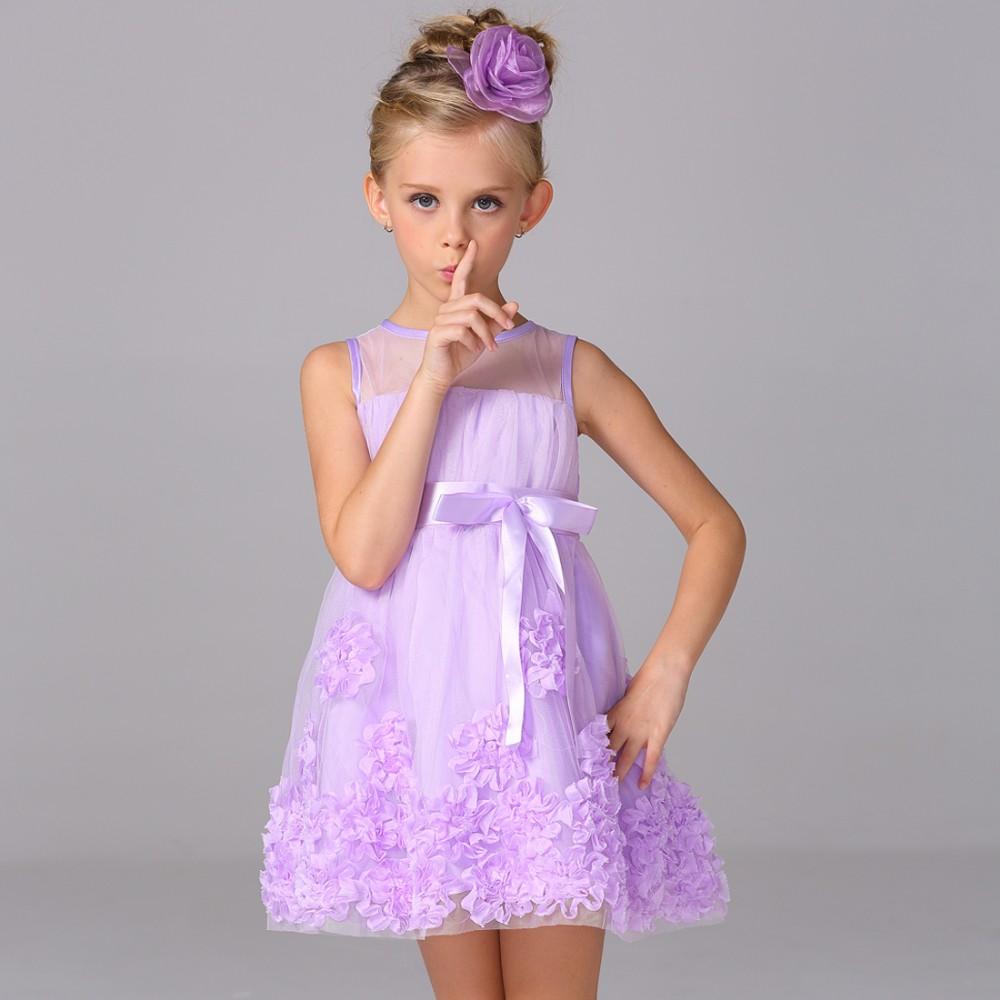 Últimas niños frocks diseños neto flor vestido niñas desgaste del ...