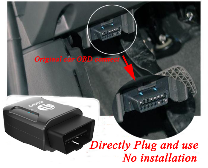 Tk Obd Ii Gps Tracker  With Mobile Phone App Tracking Get  Accurancy Fuel