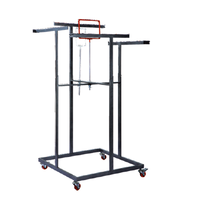 Supermarket Shopping mall Square Clothing Store Display Shelf Garment Hanger Clothing Floor <strong>Stand</strong>