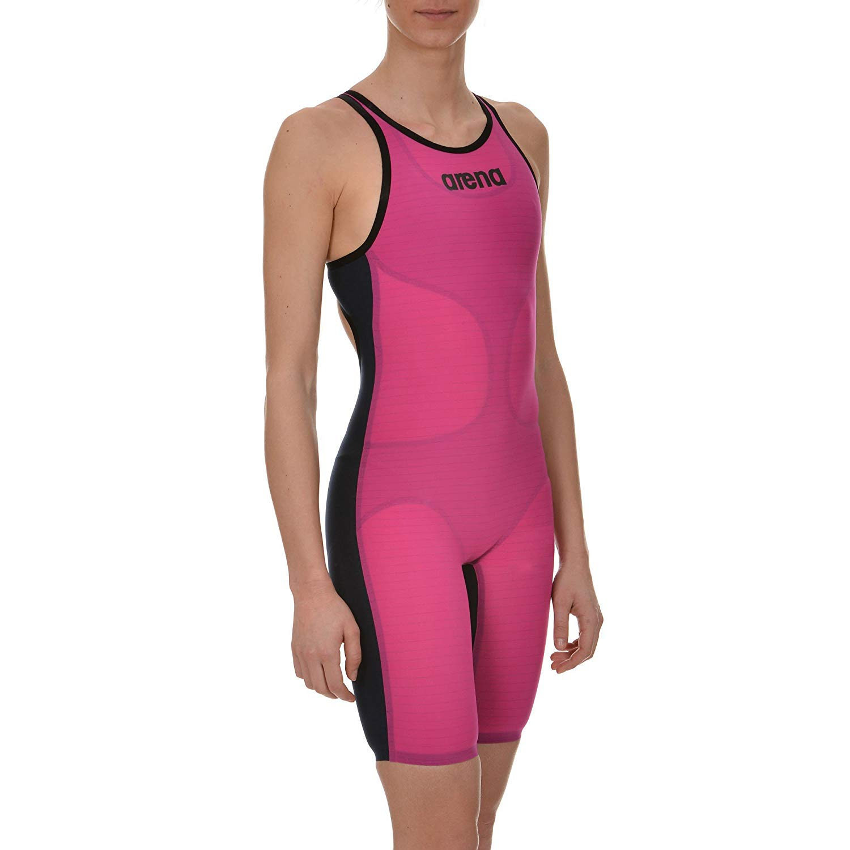 88d2bccc7 Get Quotations · Arena 1A884 Women's Open Back Powerskin Carbon Air  Swimsuit, Fuchsia/Titanium Blue - 34