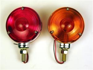 2 Red/Amber Double Face Combination Fender Mount Lights