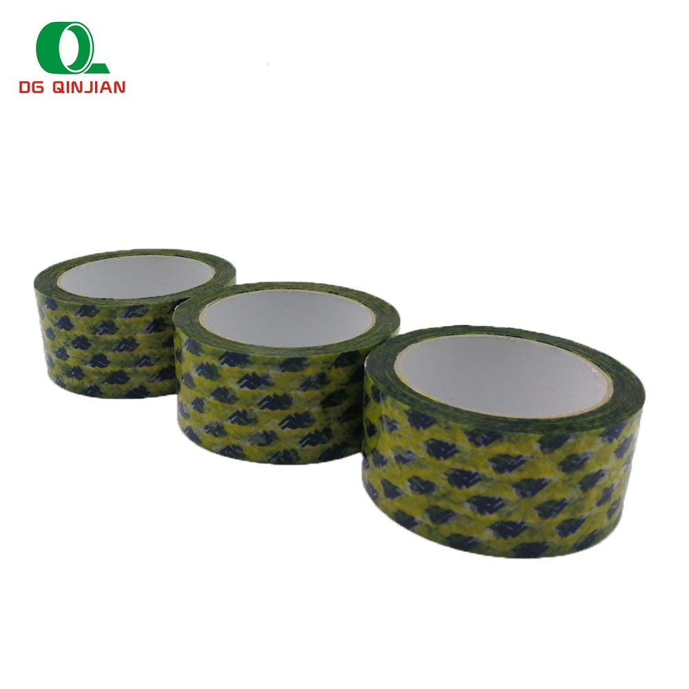 Bopp adhesive water proof branded logo gedrukt tape