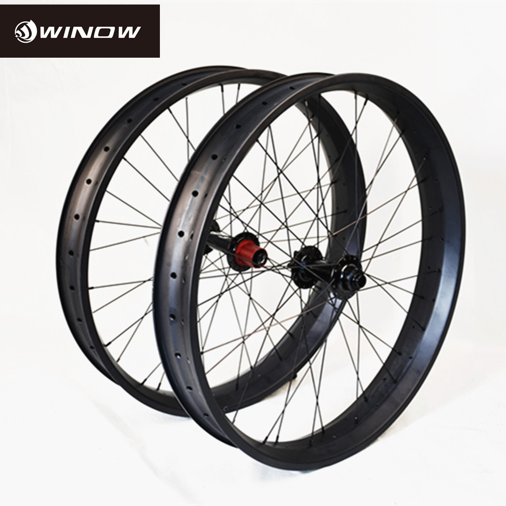 2016 new design carbon fat bike wheel 80mm clincher fat bike wheels, clincher fatbike wheel 640gr