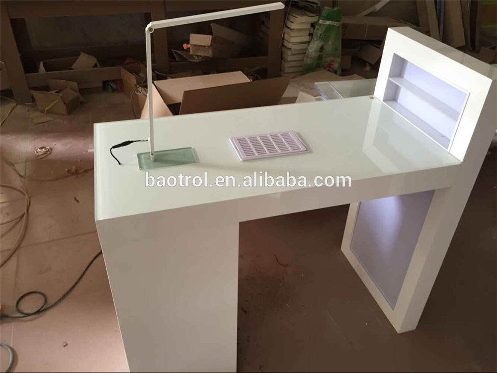 Luxurious modern dryer manicure nail table buy white for Unique manicure tables