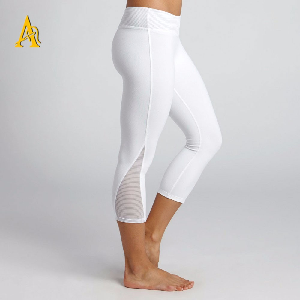 Wholesale Nylon Spandex Capri Yoga Leggings Athletic Wear