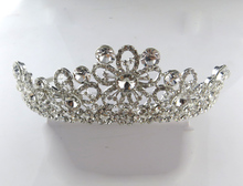 Winter style crystal tiara for bride