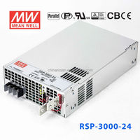 RSP-3000-24 PFC 3000W 24V factory control automation RF Digital broadcast MEANWELL parallel PV SWITCHING laser power supply