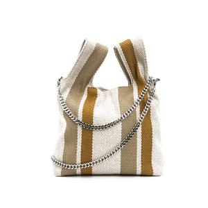 2018 korean fashion canvas bag good china handbags women striped canvas  shoulder bag ea1497bdd2f0b