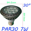 Global hot selling perfect lighting effection 7w par30 LED Spot Light