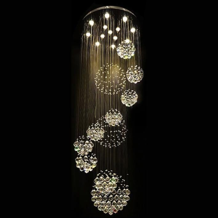 livraison gratuite new modern 11 pcs lustre boule de cristal lustre design grands lustres de. Black Bedroom Furniture Sets. Home Design Ideas