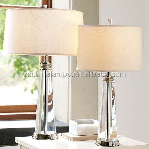 Modern Style High End Trophy Shape Crystal Table Lamp With White ...