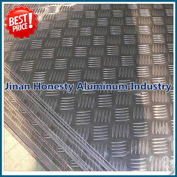 4mm 5052 5083 5005 5754 5 Bar Embossed Aluminum Sheet/plate