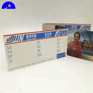 Cardboard,Coated Paper,Art Paper Paper Type and Varnishing Surface Finish plane ticket,travel air ticket