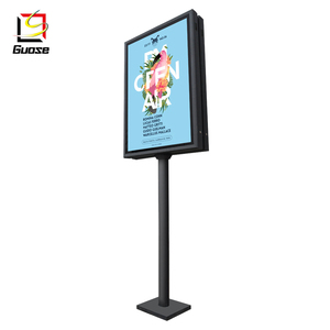 new street furniture used pole sign aluminum frame led outdoor advertising display light box