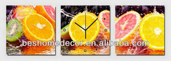 Orange lemon fruit art supply, art picture, clock decorative pictures for kitchen