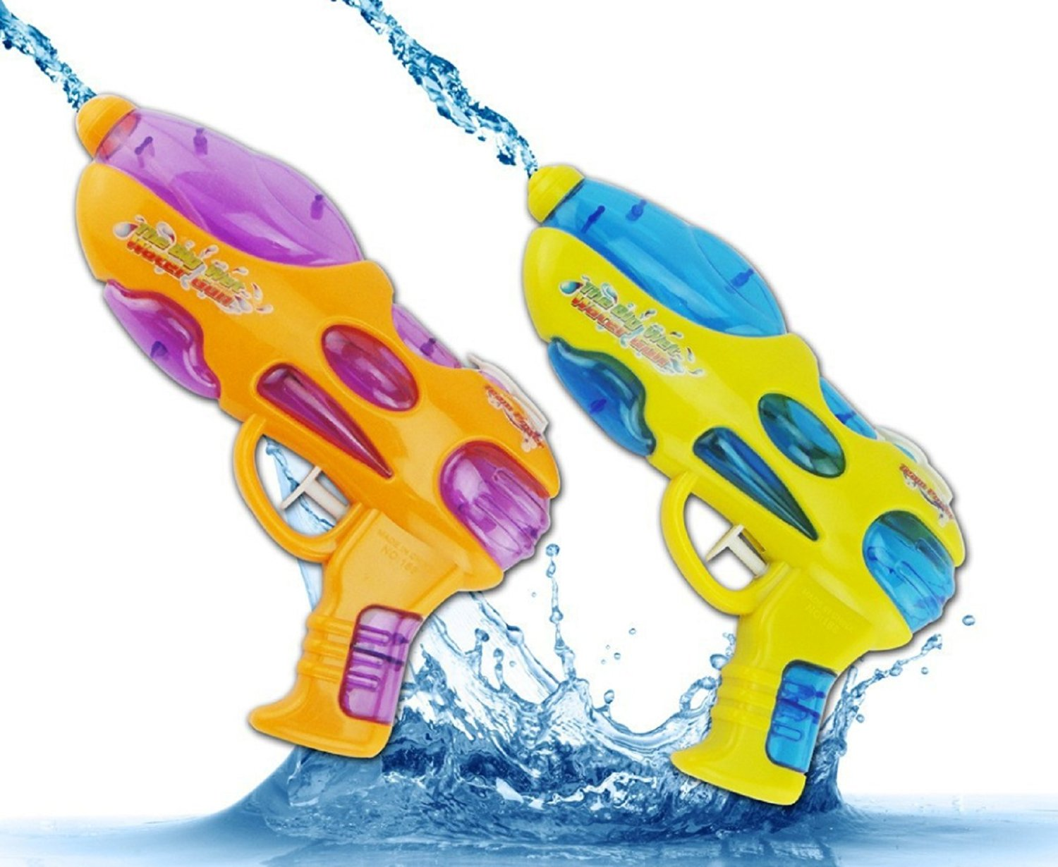 NEW!! Nerf Guns Water Gun Pressure Gun Hot Sale Limited > 3 Years Old Soft Gun Child Toy Pistol Bullet Gift (Yellow)