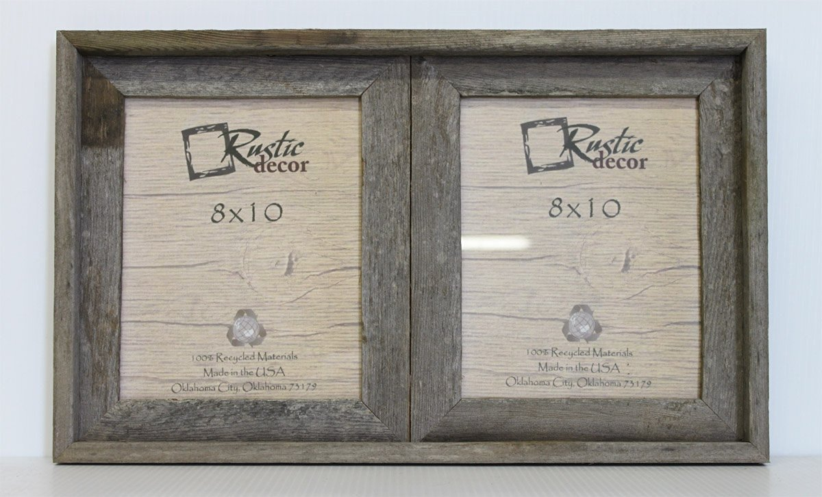 Cheap frame for 3 8x10 photos find frame for 3 8x10 photos deals get quotations 8x10 25 wide reclaimed rustic barnwood collage frame holds 2 photos jeuxipadfo Images