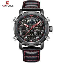 Часы NAVIFORCE мужские, спортивные, аналоговые, цифровые, водонепроницаемые(Китай)