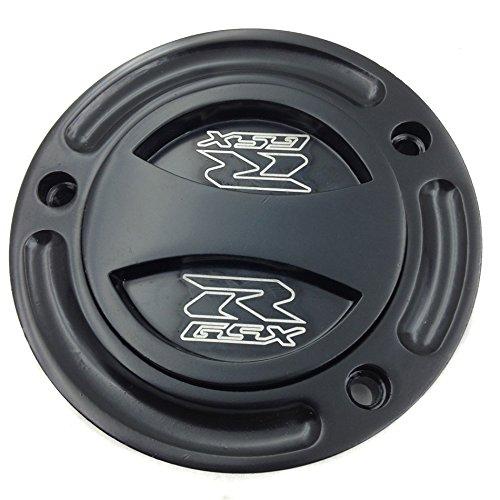 XKMT- Motorcycle Black Keyless Gas Cap Twist Off Fuel Tank Cap For 2004-2009 Suzuki GSXR 600 /2004-2009 Suzuki GSXR 750 /2003-2010 Suzuki GSXR 1000