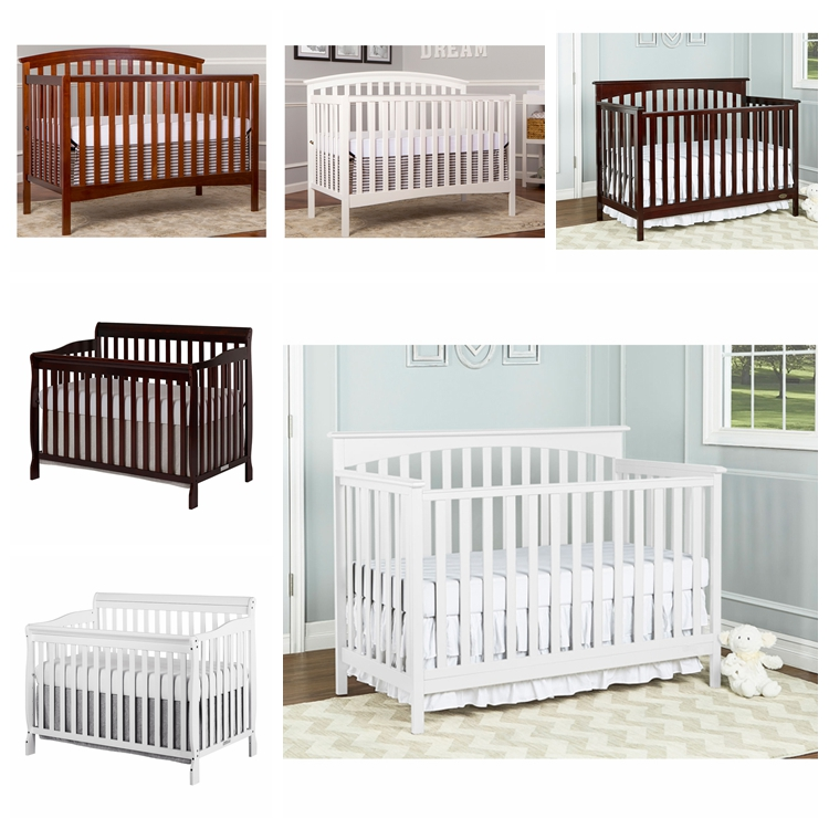 Most Popular Solid Wooden Baby Crib Bed Set With High Quality