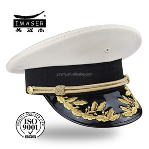 High quality fashion cheap custom made white marine corps captain caps