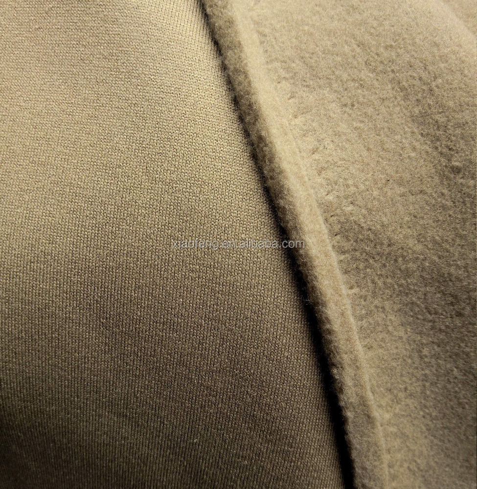 100% polyester knit one side brushed fleece <strong>fabric</strong> for outdoor's wear