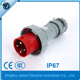 IP67 european industry plug 63A 4P waterproof male plug IEC/CEE outdoor plug&socket