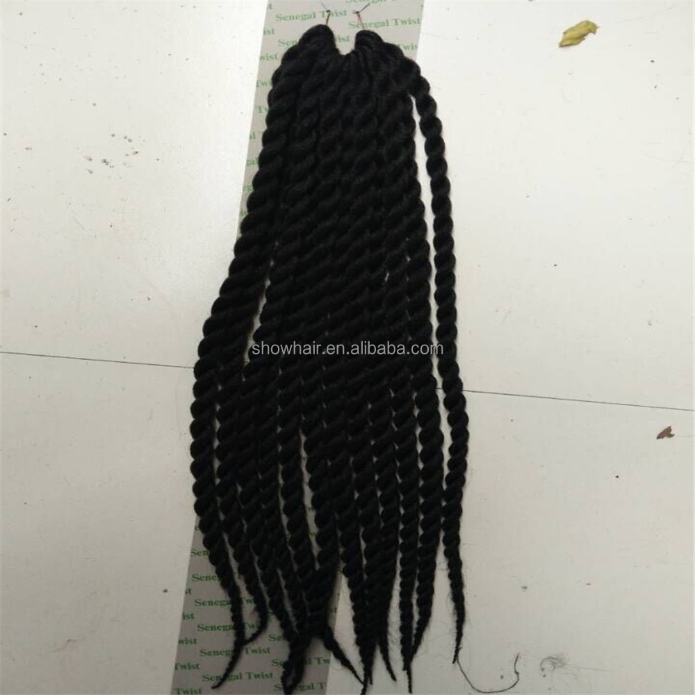 Top Quality 24 Inch 120 G Synthetic Hair Afro Kinky Twist Crochet Braid Hair With 12 Piece Each Pack