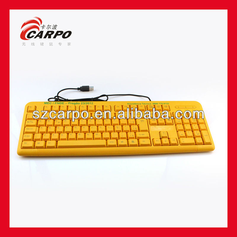 free samples yellow computer keyboard with unique designT300