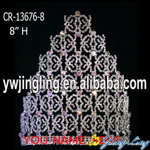 تيجان ملكية  امبراطورية فاخرة 8-inch-custom-butterfly-AB-stone-Halloween